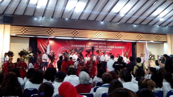 Masyarakat Kawanua di Jakarta Deklarasikan Dukungan Untuk Ahok - Djarot